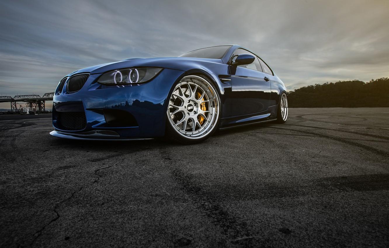 Photo wallpaper BMW, Blue, E92, Terry, LeMans, Lau's