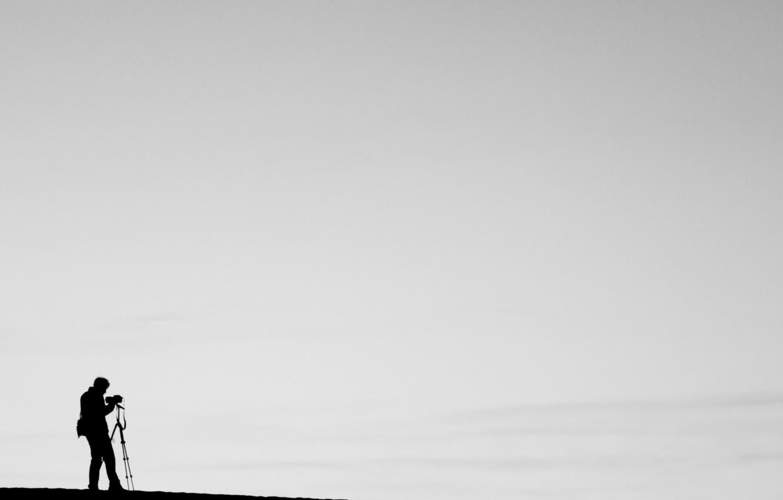 Photo wallpaper photo, minimalism, photographer, black and white, creativity