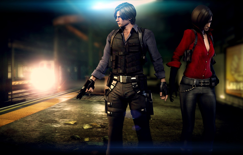 Wallpaper Biohazard Resident Evil Ada Wong Leon Scott Kennedy