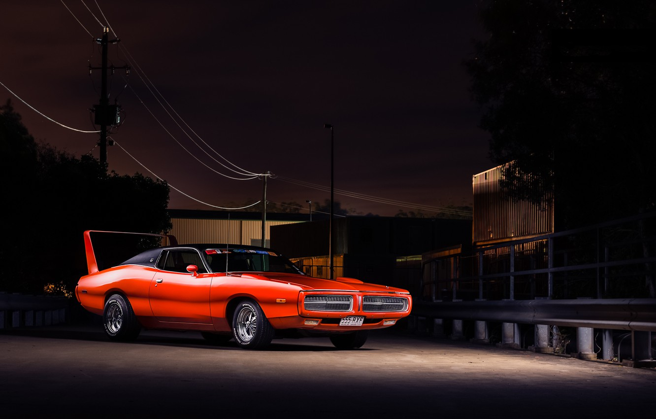 Photo wallpaper red, Dodge, red, muscle car, Dodge, Charger, muscle car, the charger
