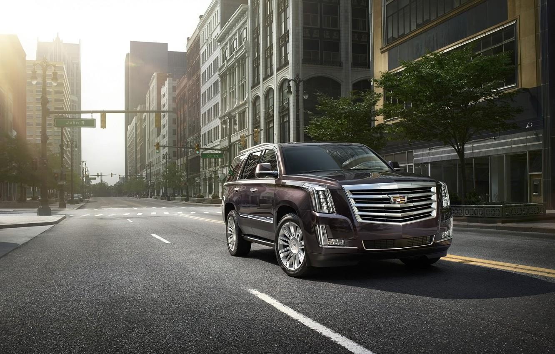 Photo wallpaper car, the city, SUV, Cadillac Escalade