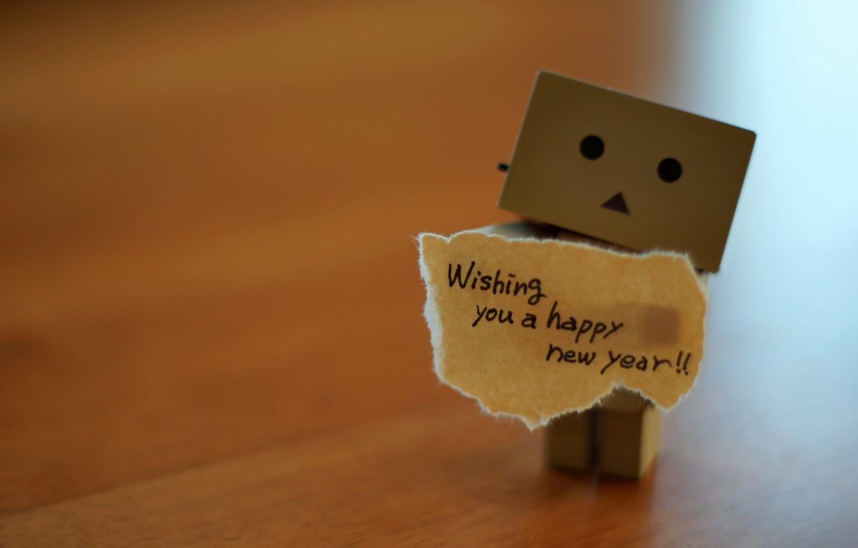 Photo wallpaper mood, holiday, box, man, wish, happy new year to all