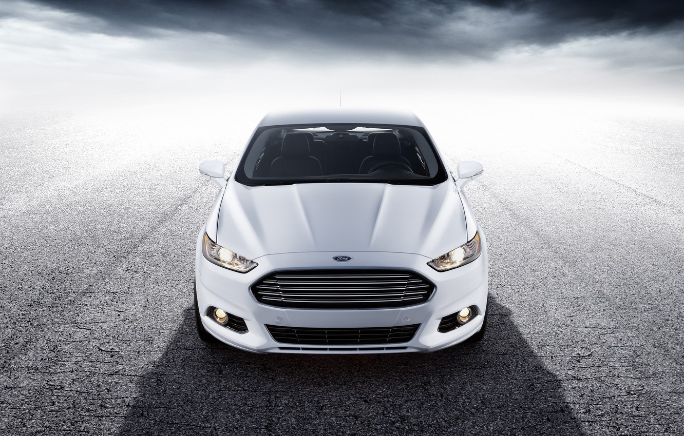 Photo wallpaper white, Ford, before, white, Ford, front, Mondeo, Mondeo