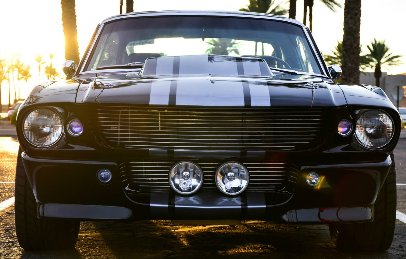 Wallpaper Mustang Ford Shelby Gt500 Black Muscle Car Super