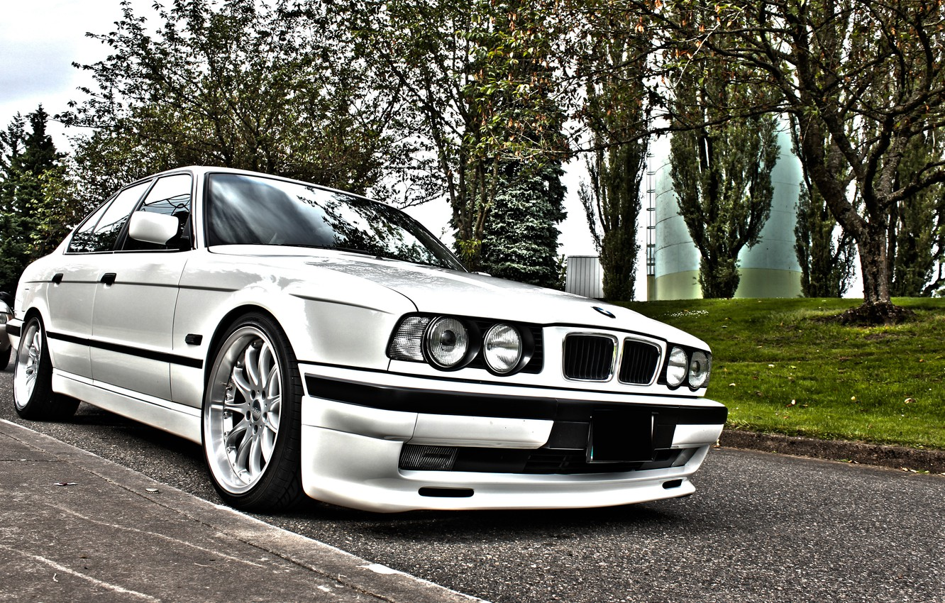 Photo wallpaper BMW, E34, 540