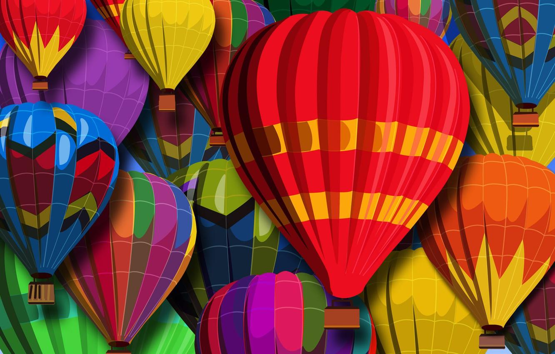 Photo wallpaper color, abstraction, balls, texture, Balloons