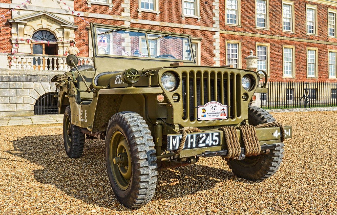 """Photo wallpaper war, car, the front, army, Jeep, high, patency, world, Second, times, """"Willis-MV"""", Willys MB"""