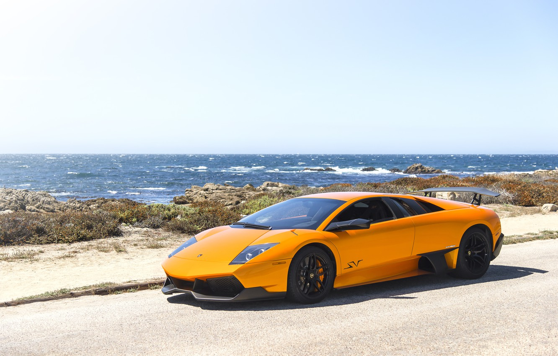 Photo wallpaper Lamborghini, Orange, Murcielago, LP670-4