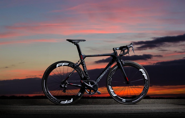 Photo wallpaper the sky, landscape, sunset, bike, carbon, bicycle, Mathot, Pallium