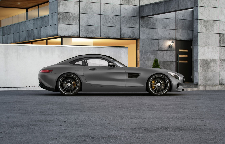 Photo wallpaper Mercedes-Benz, AMG, Wheelsandmore, Grey, Side, Tuned, 600HP
