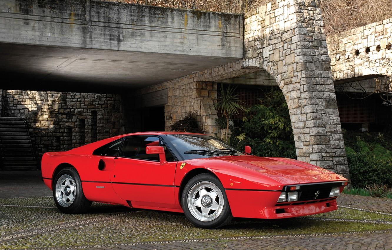 Photo wallpaper Ferrari, Red, GTO, 288