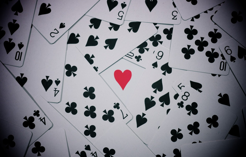 Photo wallpaper card, mood, heart, ACE, suit, mood