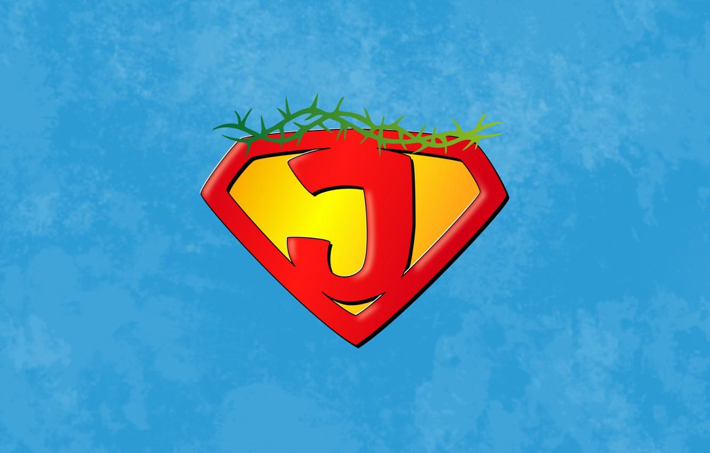 Photo wallpaper superman, sky, hero, God, king, Jesus