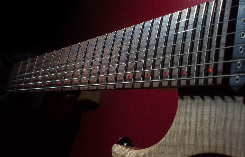 Photo wallpaper macro, music, guitar