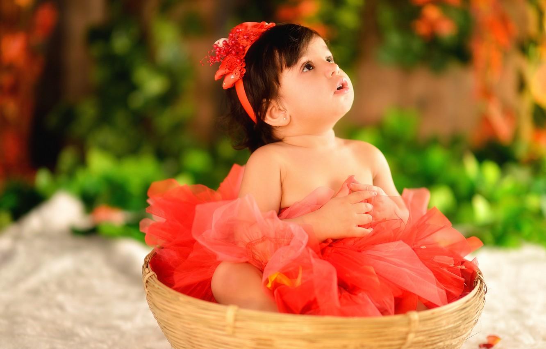 Photo wallpaper girl, ballerina, child