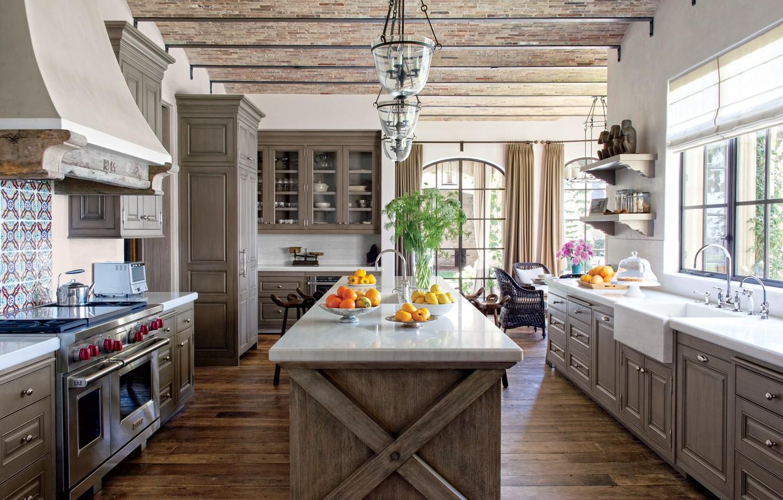 Photo wallpaper design, furniture, interior, Kitchen