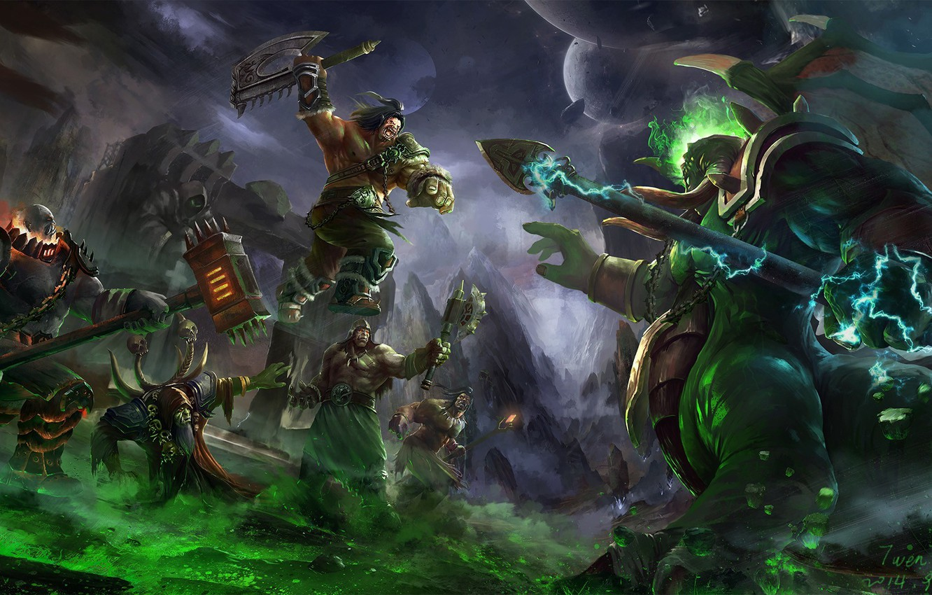 Wallpaper World Of Warcraft Axe Blizzard Grommash