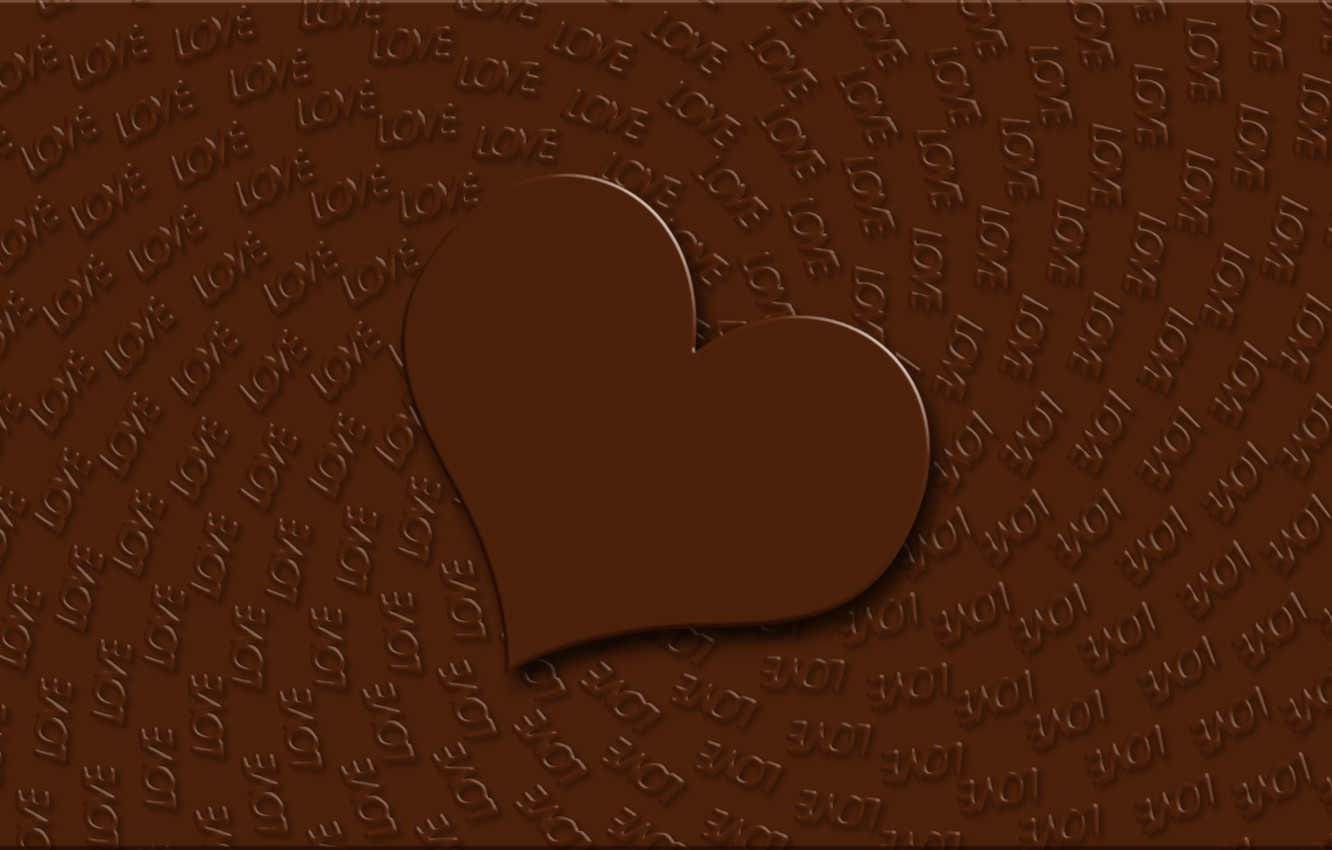 Photo Wallpaper Love Background Holiday Wallpaper Heart Chocolate
