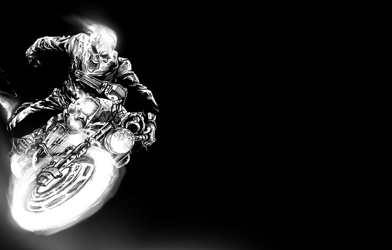 Wallpaper Figure Art Motorcycle Racer The Bare Bones Ghost