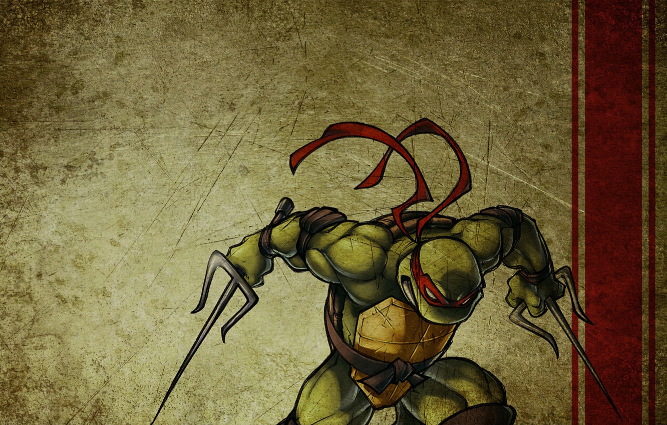 Photo wallpaper Teenage mutant ninja turtles, NINJA TURTLES, Rafael, Raphael