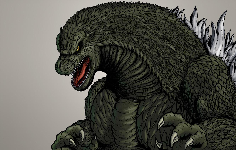 Wallpaper monster, dinosaur, light background, godzilla, Godzilla
