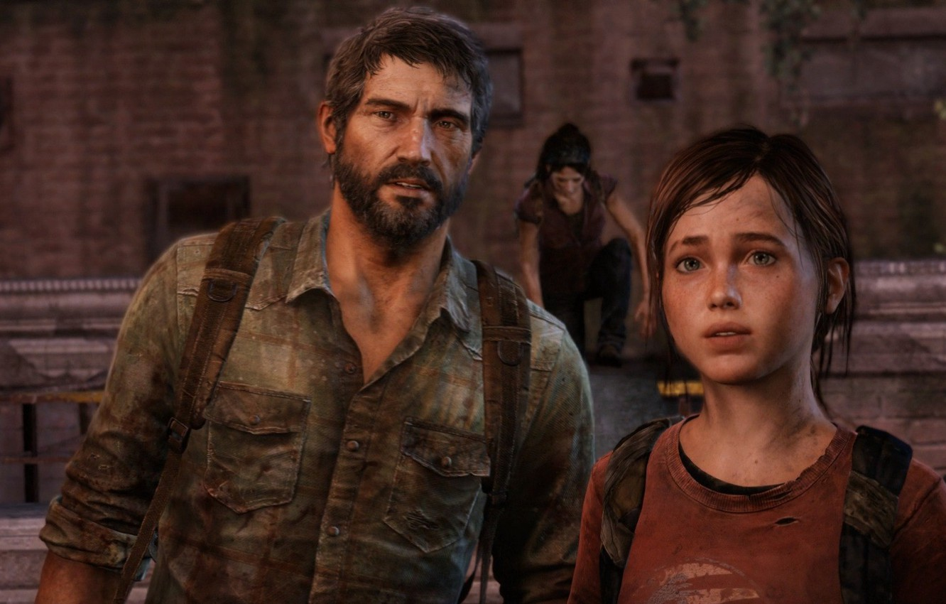 Wallpaper Ellie The Last Of Us Joel Joel Ellie Images For