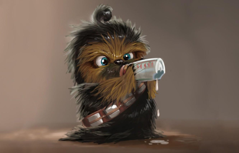 Photo wallpaper childhood, milk, star wars, star wars, Chewbacca