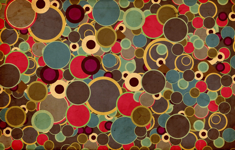 Photo wallpaper circles, abstraction, colorful