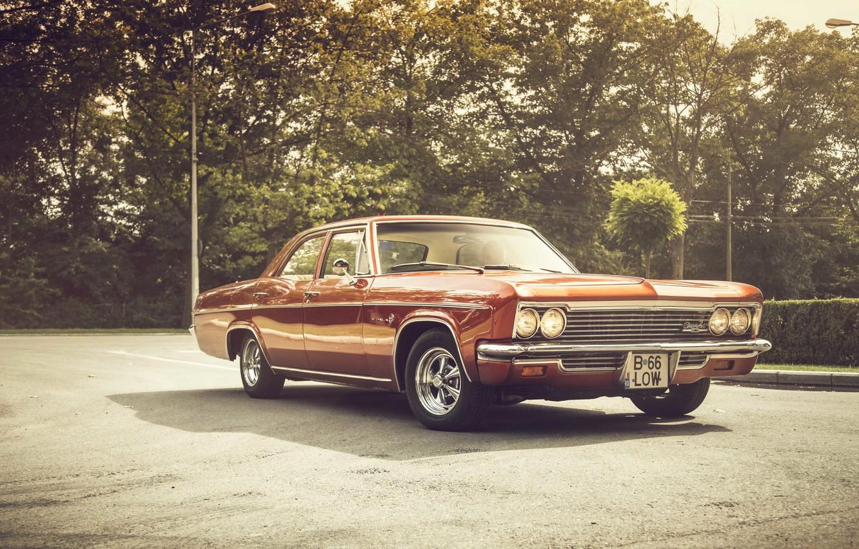 Photo wallpaper lights, shadow, Chevrolet, wheel, 1966, Impala