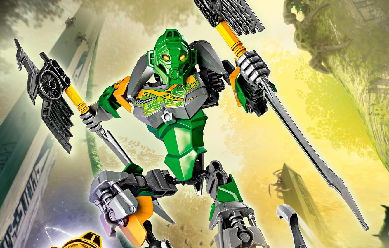Photo wallpaper lego, LEGO, Bionicle, bionicle, master of jungle, lewa, 70784, Liva, Lord of the jungle