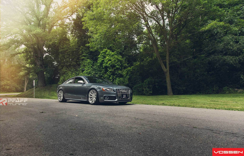 Photo wallpaper Audi, grey, vossen