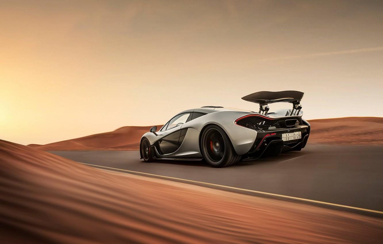Photo wallpaper McLaren, Road, Desert, Speed, Speed, Road, Supercar, Hypercar, Desert