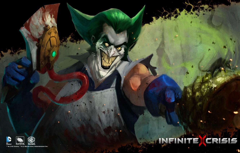 Photo wallpaper DC comics, Warner Games, Infinite Crisis, Gaslight Joker