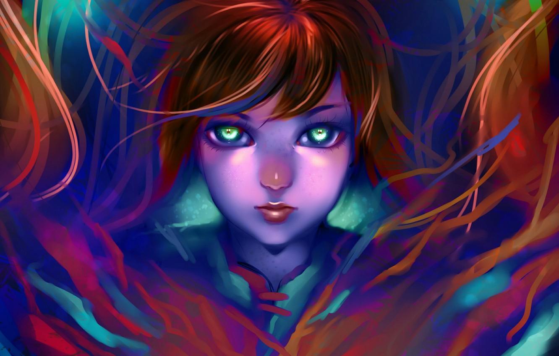 Photo wallpaper girl, art, girl, art, ryky