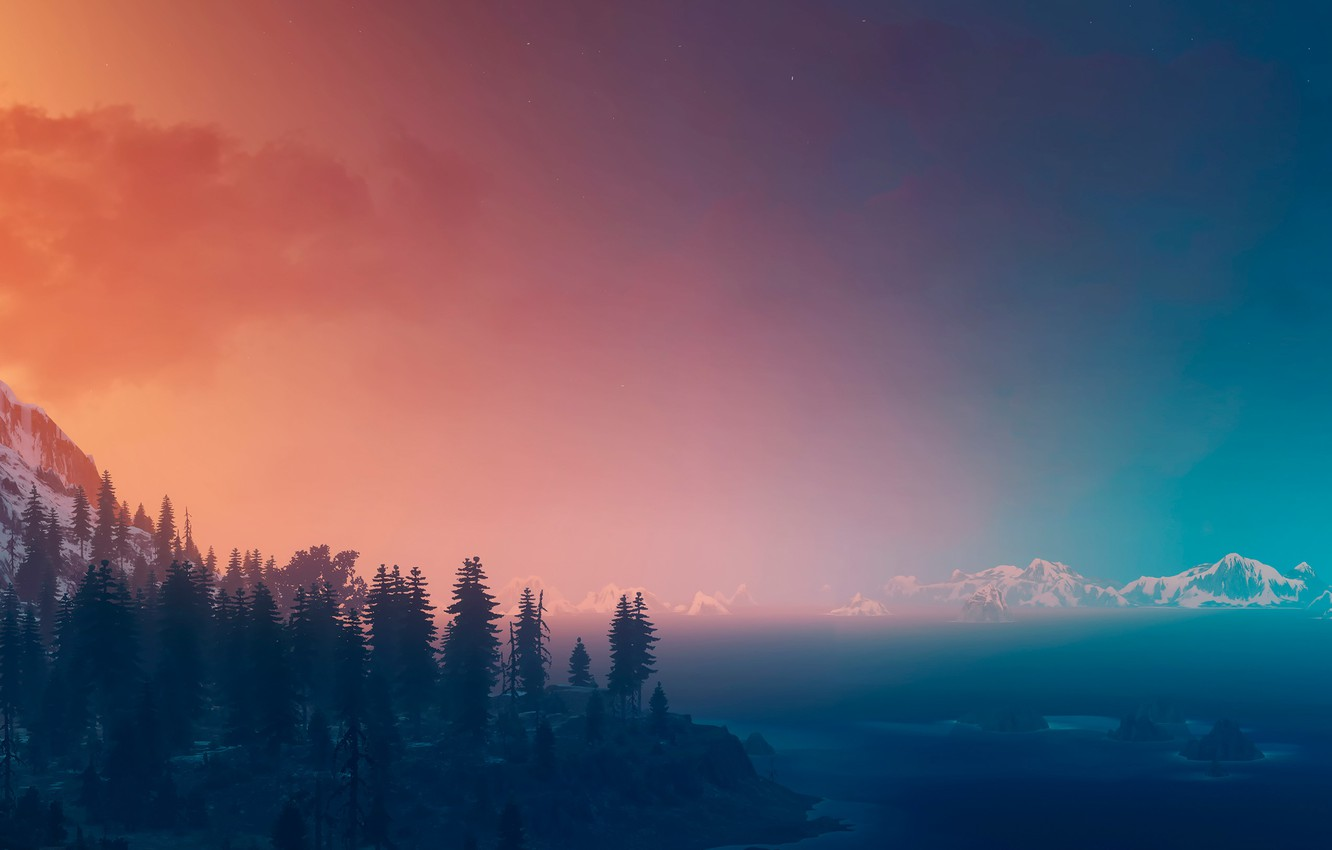 Photo wallpaper landscape, view, panorama, The Witcher, The Witcher 3:Wild Hunt
