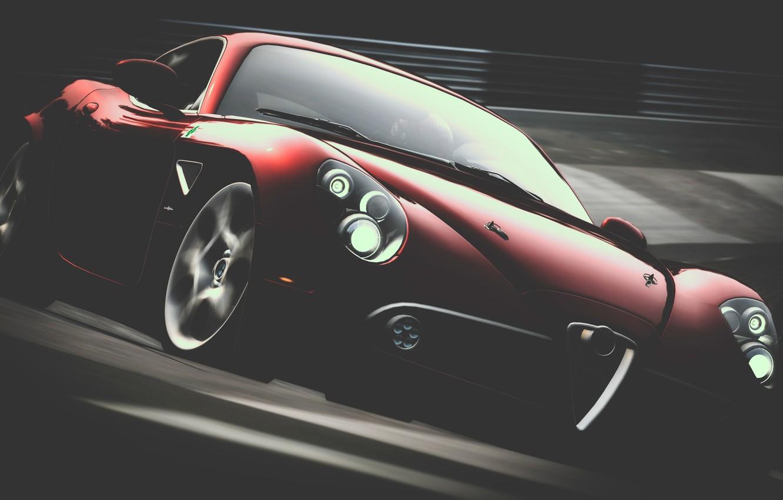 Photo wallpaper track, Alfa Romeo, Alpha In G-Minor