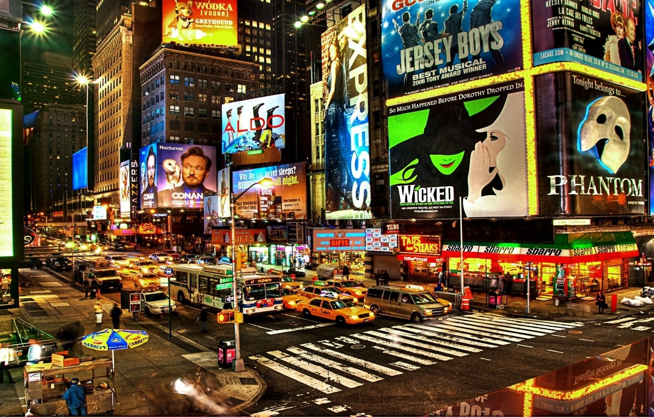 Wallpaper The City New York City Times Square Busy Images