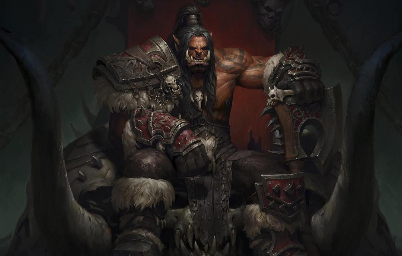 Photo wallpaper fantasy, Art, World of Warcraft Warlords of Draenor