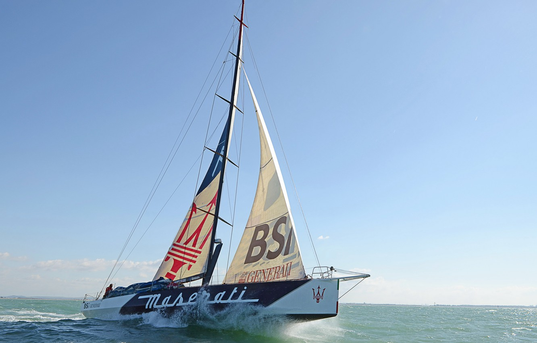 Photo wallpaper wave, the sky, photo, sailboat, yacht