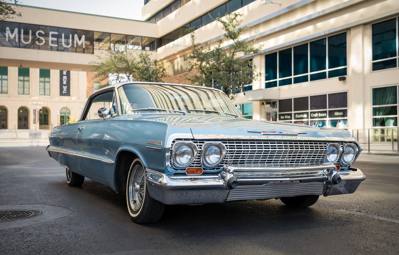 Photo wallpaper Chevrolet, muscle car, Impala SS, 1963