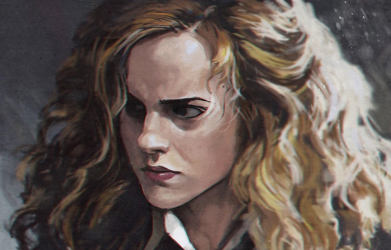 Wallpaper Emma Watson Art Harry Potter Hermione Granger Images For Desktop Section Filmy Download