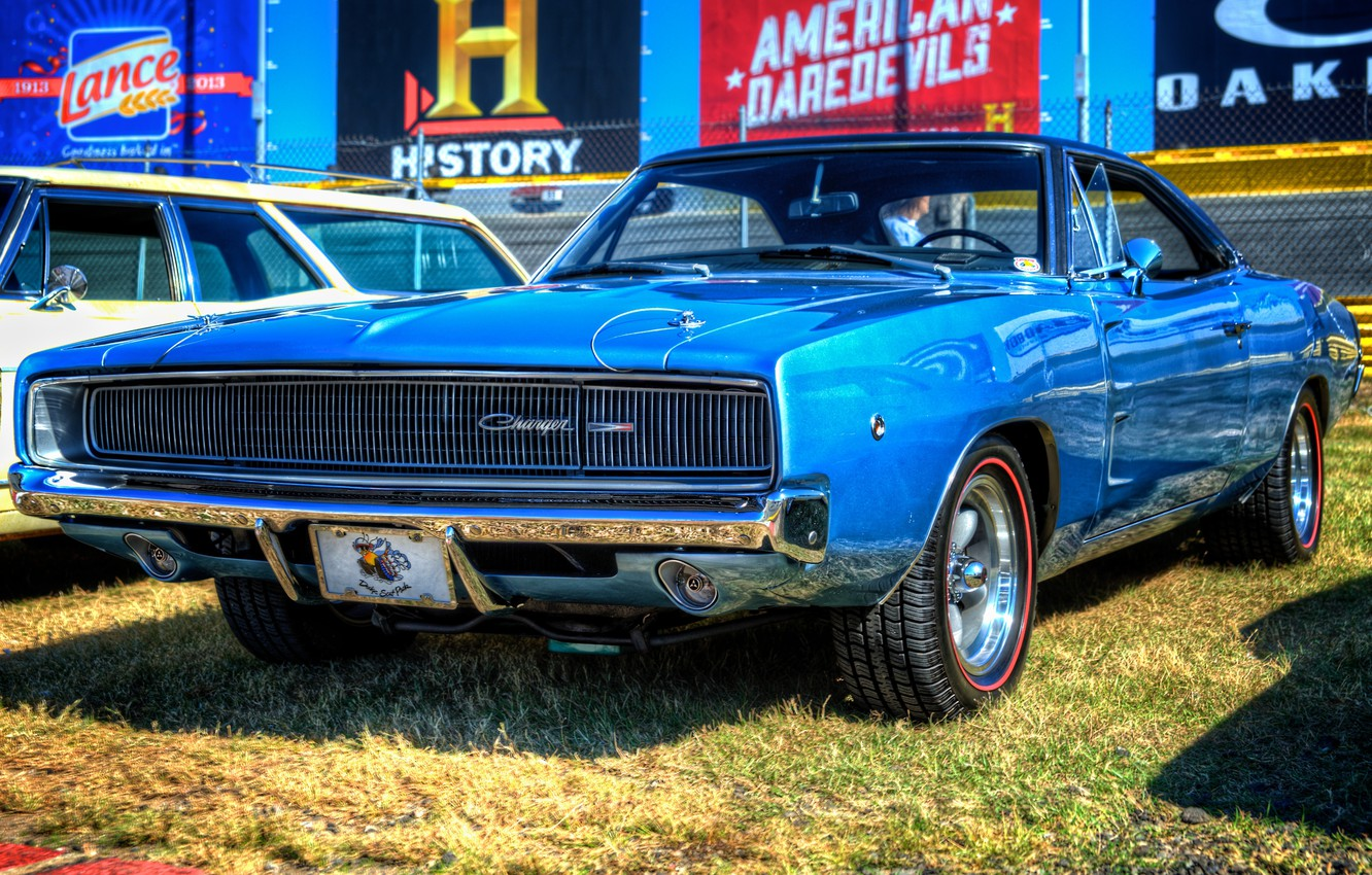 Photo wallpaper Machine, Dodge, Charger, 1968, Muscle Car