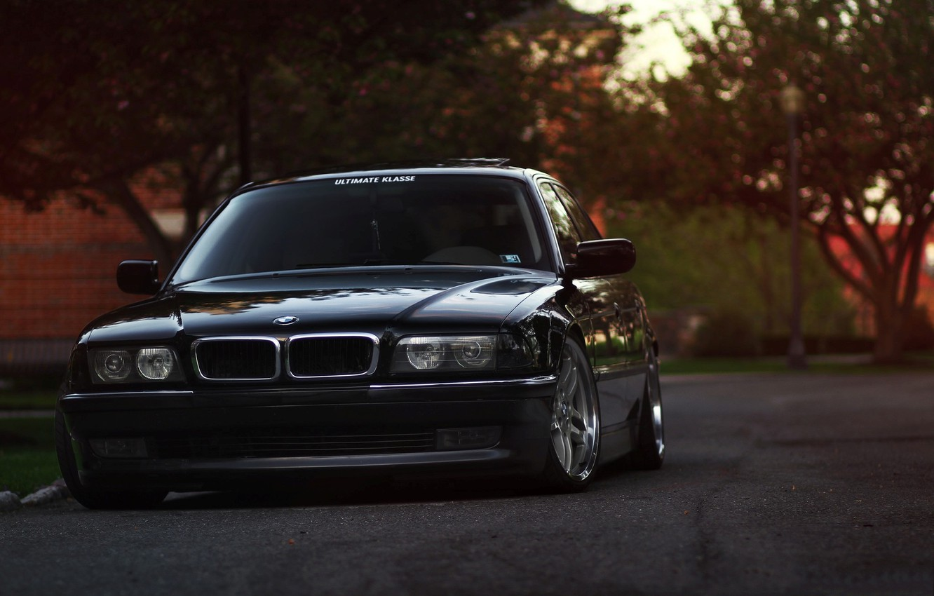 Photo wallpaper BMW, E38, 7