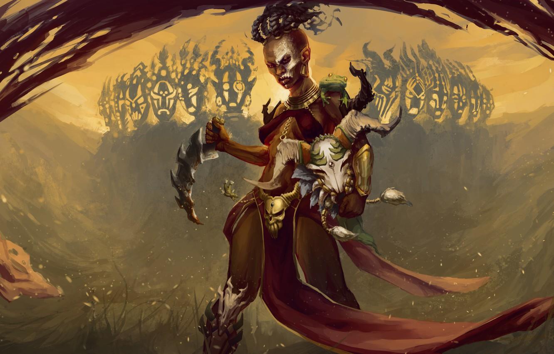 Wallpaper Girl Skull Diablo 3 Witch Doctor Images For Desktop Section Igry Download