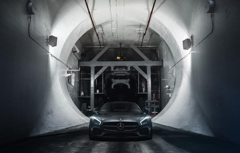 Photo wallpaper Mercedes-Benz, Front, AMG, Supercar, Wheels, ADV.1, Ligth, GT S