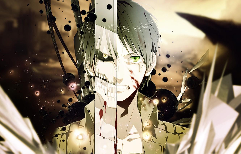 Photo wallpaper Anime, Shingeki no Kyojin, Eren Yeager, Attack of the titans, Eren Yeager.