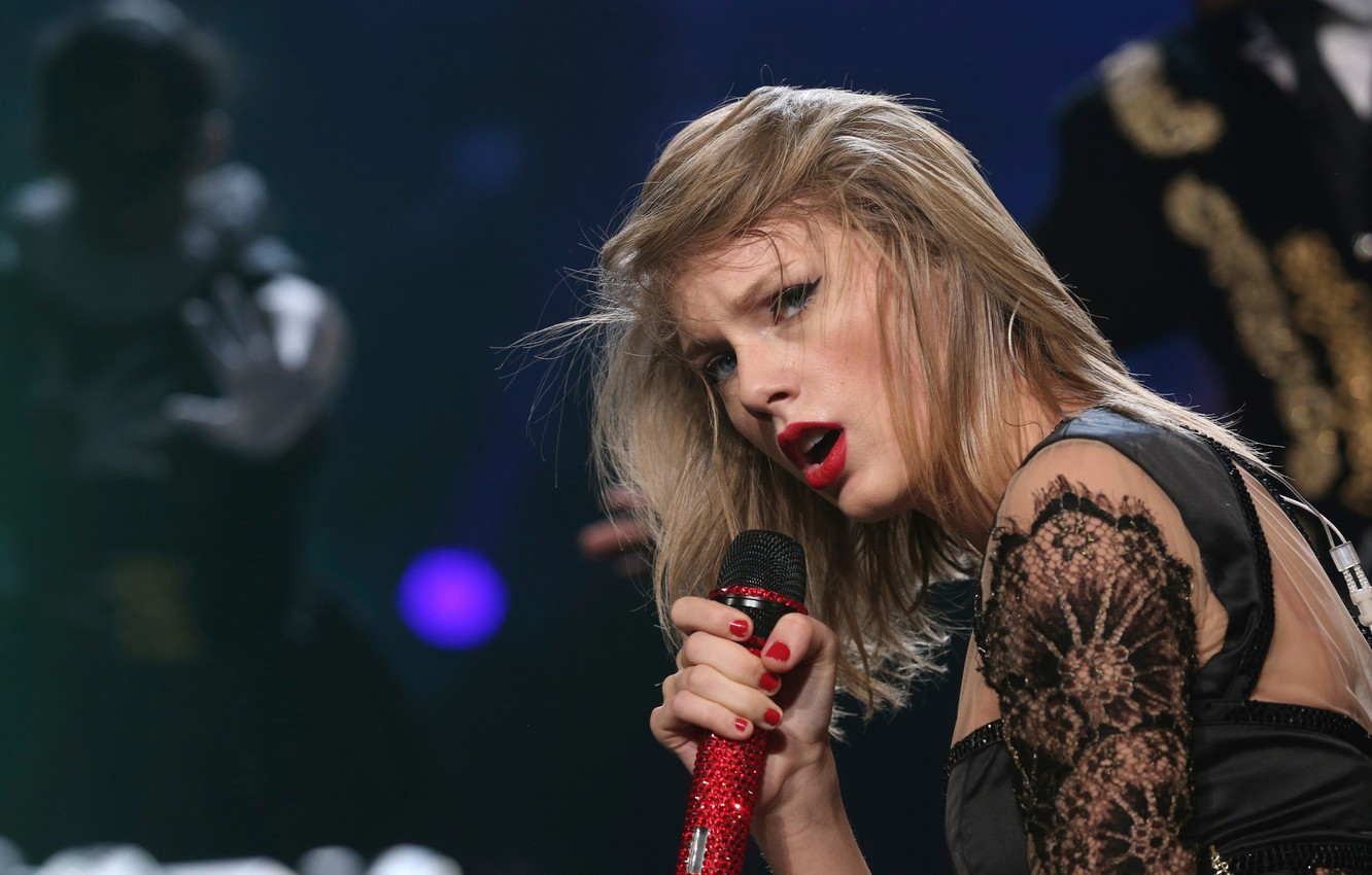 Photo wallpaper microphone, Tokyo, Taylor Swift, Taylor Swift, RED Tour