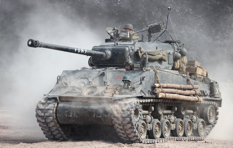 """Photo wallpaper dust, tank, average, """"Sherman"""", M4A3 Sherman"""