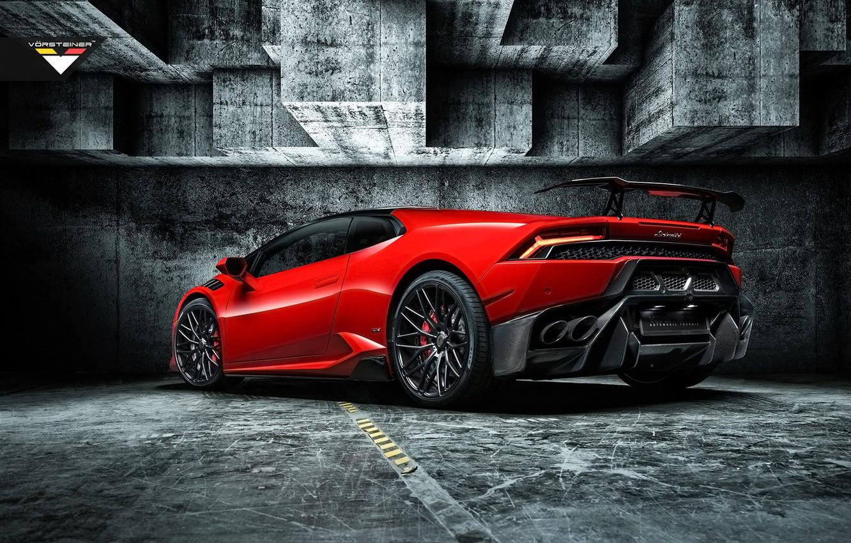 Photo wallpaper Lamborghini, rear view, Vorsteiner, Lamborghini, Huracan, Novara Edition