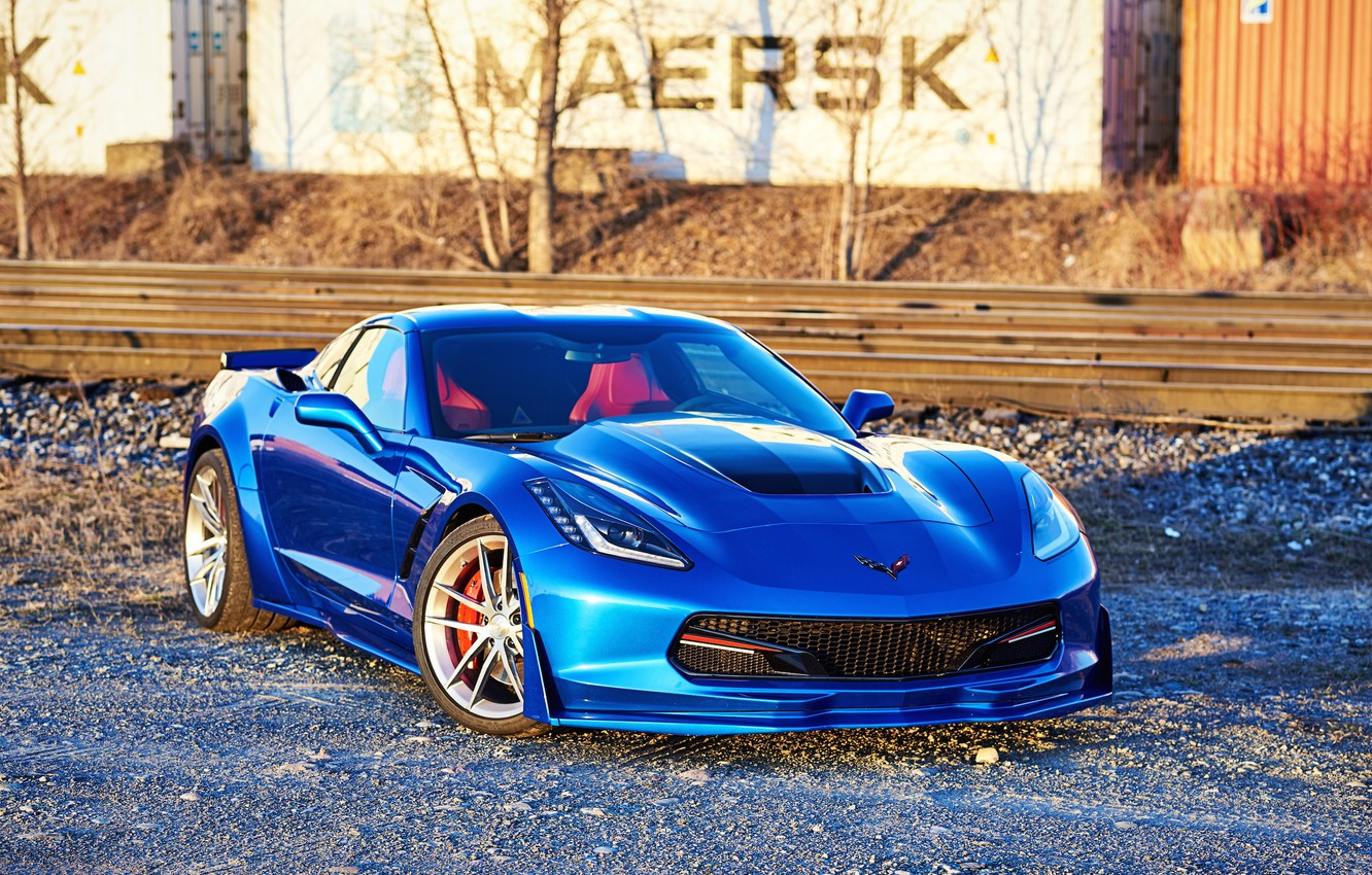 Photo wallpaper Corvette, Chevrolet, One, Forged, Stingray, Piece, Forgeline, on, C7